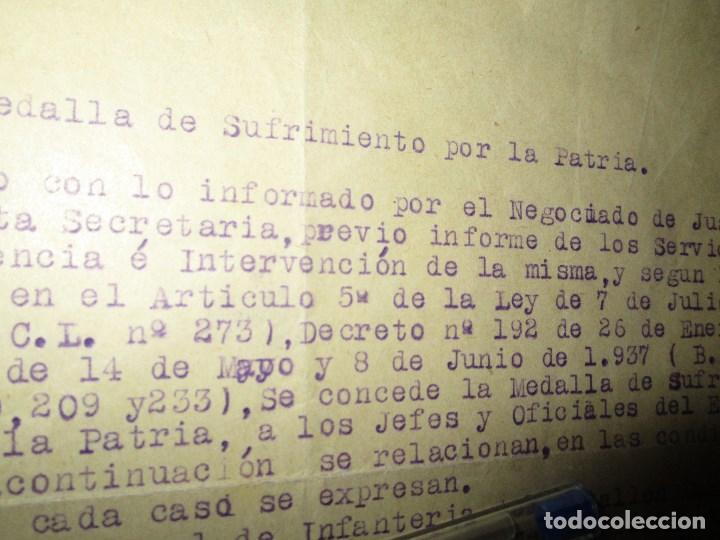 Militaria: burgos ORDEN TENIENTE GENERAL MEDALLA SUFRIMIENTO HERIDO vala FRENTE de ARAGON 1937 GUERRA CIVIL - Foto 11 - 138742774