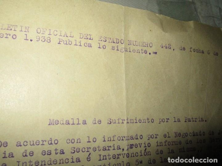 Militaria: burgos ORDEN TENIENTE GENERAL MEDALLA SUFRIMIENTO HERIDO vala FRENTE de ARAGON 1937 GUERRA CIVIL - Foto 12 - 138742774