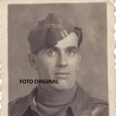 Militaria: FOTO ESTUDIO OFICIAL CTV ITALIANO INSIGNIA FASCISTA GUERRA CIVIL. Lote 229710235