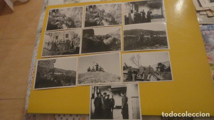 ANTIGUO CONJUNTO 10 FOTOGRAFIAS.MILITARES.LANJARON GRANADA ENERO 1939.GUERRA CIVIL. (Militar - Fotografía Militar - Guerra Civil Española)