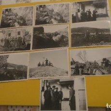 Militaria: ANTIGUO CONJUNTO 10 FOTOGRAFIAS.MILITARES.LANJARON GRANADA ENERO 1939.GUERRA CIVIL.. Lote 229903215