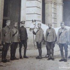 Militaria: FOTOGRAFÍA SOLDADOS CABALLERÍA REGIMIENTO DRAGONES DE SANTIAGO DEL EJÉRCITO ESPAÑOL. BARCELONA. Lote 230212240