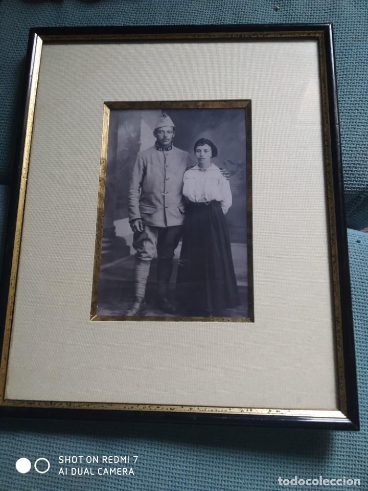 FOTOGRAFÍA MILITAR ENMARCADA 33X27 CM (Militar - Fotografía Militar - I Guerra Mundial)