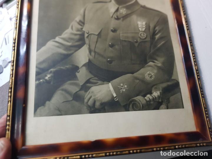 Militaria: Fotografia de Francisco Franco con marco y cristal grande - Foto 5 - 232987320
