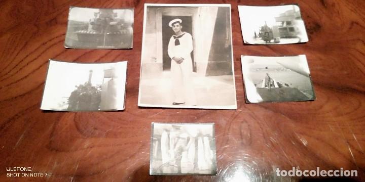 LOTE DE 6 FOTOS ORIGINALES DE LA GUERRA CIVIL ESPAÑOLA DE MARINEROS DE LA ARMADA (Militar - Fotografía Militar - Guerra Civil Española)