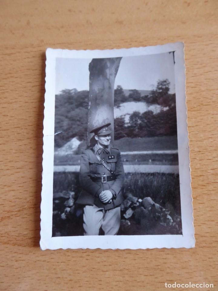 Militaria: Fotografía teniente provisional del ejército nacional. - Foto 2 - 233603620