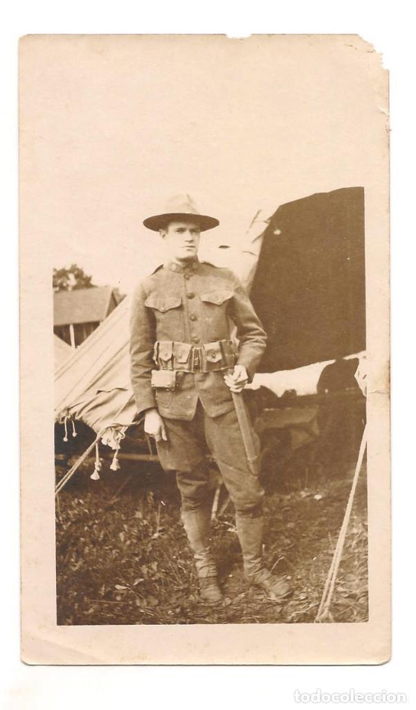 SOLDADO AMERICANO DE LA PRIMERA GUERRA MUNDIAL (Militar - Fotografía Militar - I Guerra Mundial)