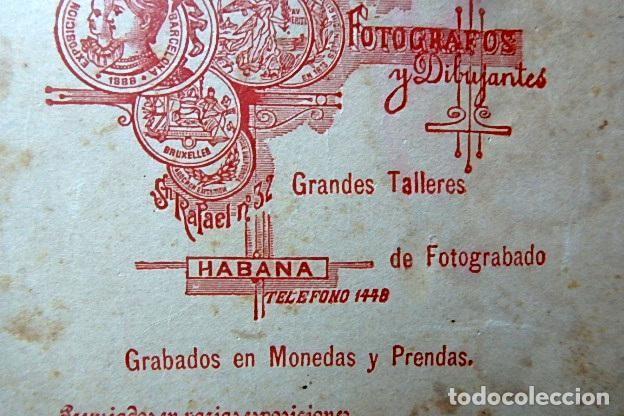 Militaria: (JX-210113)Fotografía familiar de Oficial,Campaña de Cuba,realizada en Otero y Colominas La Habana - Foto 6 - 234893290