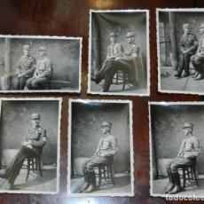Militaria: 6 FOTOGRAFIAS DE OFICIALES DE LA WEHRMACHT, EJERCITO NAZI, II GUERRA MUNDIAL, MIDEN 8,5 X 6,5 CMS.. Lote 235206515