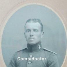 Militaria: MARCO CON RETRATO DE MILITAR. INGENIEROS. ALFONSO XIII. 1916. Lote 235244200
