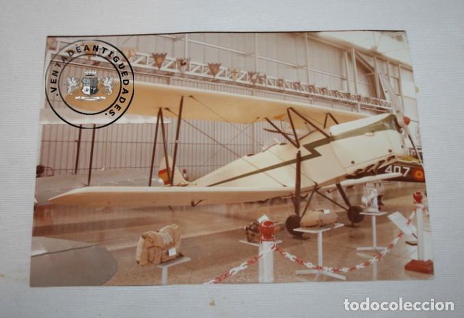FOTOGRAFIA AVION HISPANO SUIZO E-34 UNICO DE LA GUERRA CIVIL EN MUSEO DE CUATRO VIENTOS MADRID (Militar - Fotografía Militar - Guerra Civil Española)