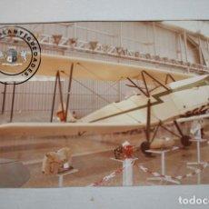 Militaria: FOTOGRAFIA AVION HISPANO SUIZO E-34 UNICO DE LA GUERRA CIVIL EN MUSEO DE CUATRO VIENTOS MADRID. Lote 235360885