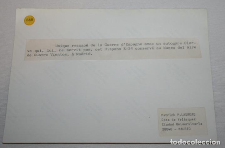 Militaria: FOTOGRAFIA AVION HISPANO SUIZO E-34 UNICO DE LA GUERRA CIVIL EN MUSEO DE CUATRO VIENTOS MADRID - Foto 2 - 235360885