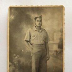 Militaria: POSTAL FOTOGRÁFICA. MILITAR REPUBLICANO. GUERRA CIVIL ESPAÑOLA.. Lote 235828980