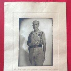 Militaria: FOTO JALON ÁNGEL. GENERAL CARLOS ASENSIO CABANILLAS. DEDICATORIA AUTÓGRAFO.FECHADA 1938.GUERRA CIVIL. Lote 235904435
