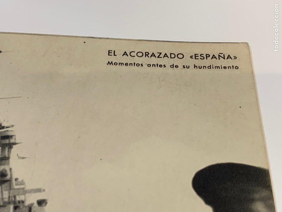 Militaria: Postal Guerra Civil Acorazado España antes de su hundimiento - Foto 3 - 236561305