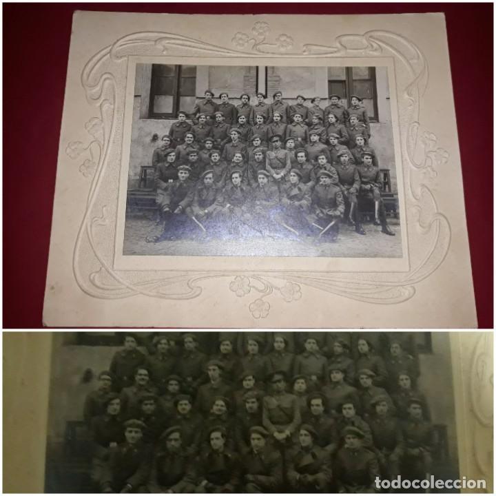 FOTOGRAFÍA GRAN FORMATO ARTILLERÍA ESPAÑOLA AÑOS 30 MARCO VICTORIANO (Militar - Fotografía Militar - Guerra Civil Española)