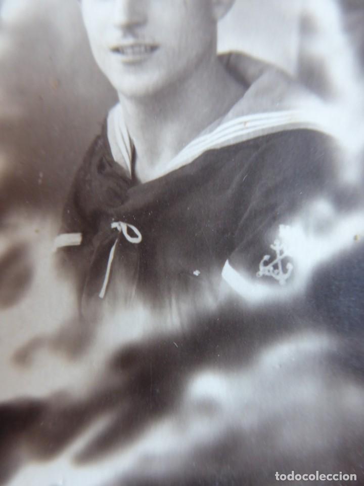 Militaria: Fotografía marinero armada especialista maniobra. Segunda República - Foto 3 - 237751710
