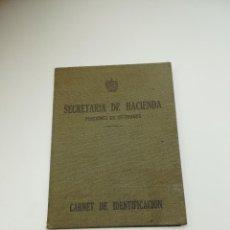 Militaria: CUBA. GENERAL DE BRIGADA ROJAS. CARNET DE PENSIONISTA. 1937. SELLOS, HUELLAS, FIRMAS. VER. Lote 240405805