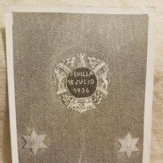 Militaria: FOTO SASTRE BORDADO COLECTIVA SEVILLA 18 JULIO 1936. Lote 241109395