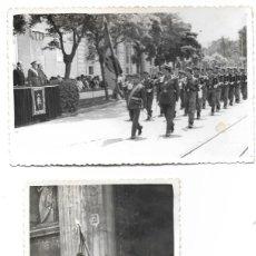 Militaria: DOS FOTOGRAFÍAS DESFILE EN VALENCIA UN 18 DE JULIO AÑOS 60 TAMAÑO 13,5 X 9 CM. Lote 241223775