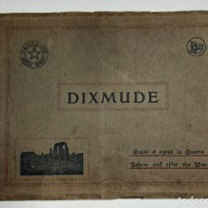 Militaria: DIXMUDE BÉLGICA 20 POSTALES DEL ANTES Y EL DESPUÉS DE LA PRIMERA GUERRA MUNDIAL WW I.. Lote 243466965