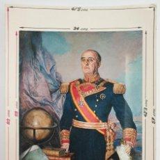 Militaria: POSTAL S.E. EL JEFE DEL ESTADO ESPAÑOL GENERALISIMO DE LOS EJERCITOS D. FRANCISCO FRANCO BAHAMONDE. Lote 243609875