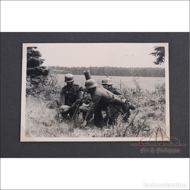 ÁLBUM CON 84 FOTOS. 3ª BATERÍA DE ARTILLERÍA DE BREMEN. ALEMANIA, 2ªGM (Militar - Fotografía Militar - II Guerra Mundial)