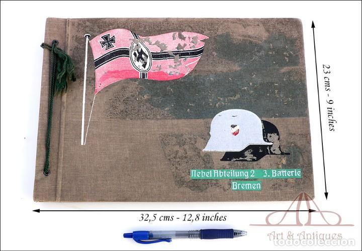 Militaria: Álbum con 84 Fotos. 3ª Batería de Artillería de Bremen. Alemania, 2ªGM - Foto 2 - 243616155