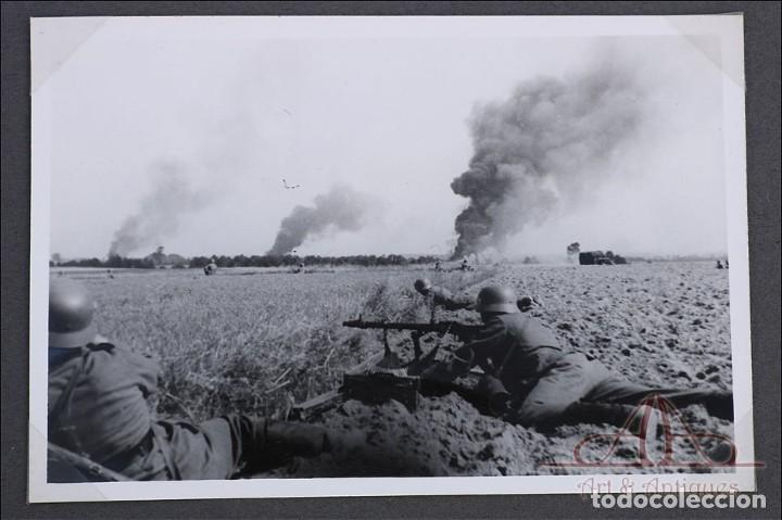 Militaria: Álbum con 84 Fotos. 3ª Batería de Artillería de Bremen. Alemania, 2ªGM - Foto 4 - 243616155