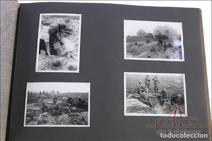 Militaria: Álbum con 84 Fotos. 3ª Batería de Artillería de Bremen. Alemania, 2ªGM - Foto 7 - 243616155