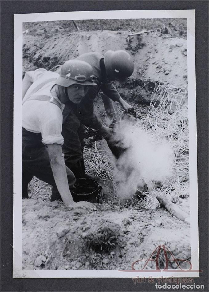 Militaria: Álbum con 84 Fotos. 3ª Batería de Artillería de Bremen. Alemania, 2ªGM - Foto 8 - 243616155