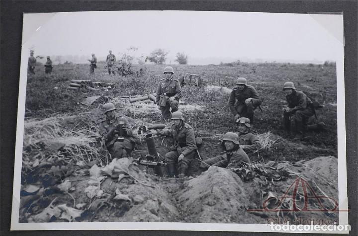 Militaria: Álbum con 84 Fotos. 3ª Batería de Artillería de Bremen. Alemania, 2ªGM - Foto 9 - 243616155