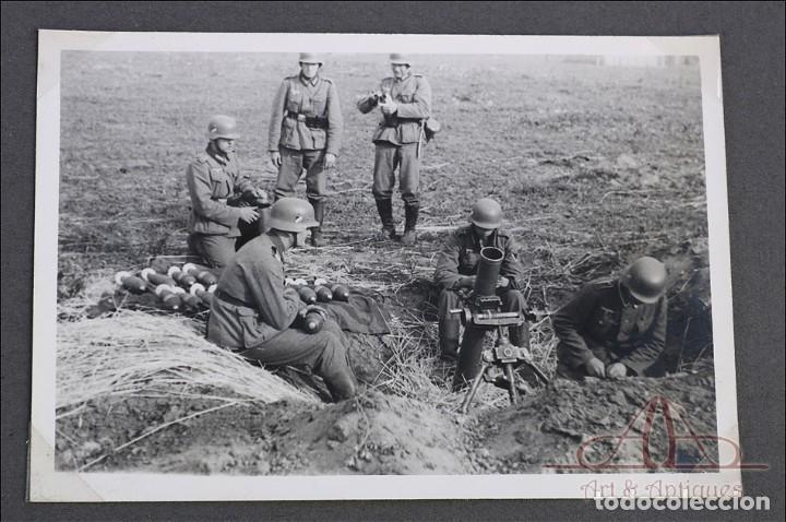 Militaria: Álbum con 84 Fotos. 3ª Batería de Artillería de Bremen. Alemania, 2ªGM - Foto 10 - 243616155