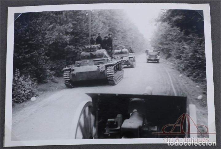 Militaria: Álbum con 84 Fotos. 3ª Batería de Artillería de Bremen. Alemania, 2ªGM - Foto 12 - 243616155
