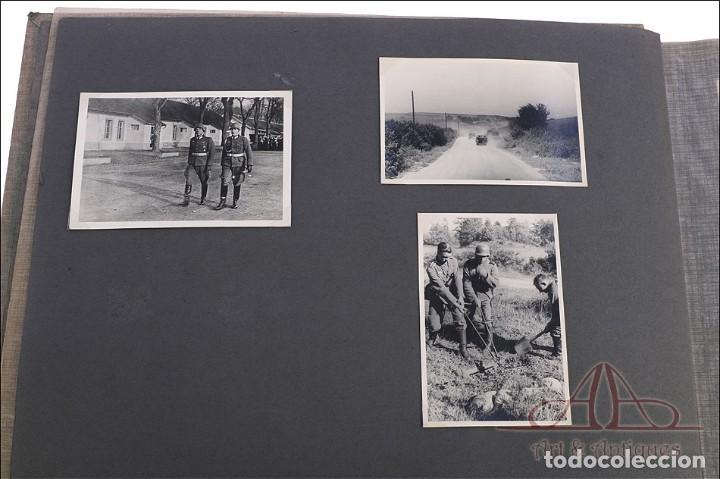 Militaria: Álbum con 84 Fotos. 3ª Batería de Artillería de Bremen. Alemania, 2ªGM - Foto 13 - 243616155