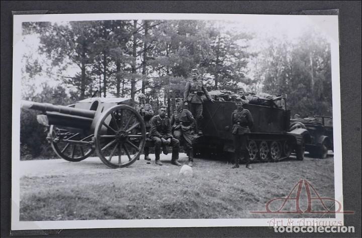 Militaria: Álbum con 84 Fotos. 3ª Batería de Artillería de Bremen. Alemania, 2ªGM - Foto 17 - 243616155