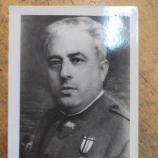 Militaria: FOTO TAMAÑO POSTAL CORONEL YAGÜE. Lote 243786910