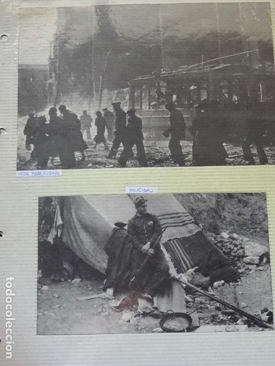 2 RECORTES POLÍTICO MILITARES. GUERRA CIVIL FRANQUISMO REPÚBLICA. 1938 BARCELONA, MILICIANO. 21 (Militar - Fotografía Militar - Guerra Civil Española)