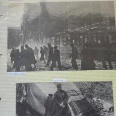 Militaria: 2 RECORTES POLÍTICO MILITARES. GUERRA CIVIL FRANQUISMO REPÚBLICA. 1938 BARCELONA, MILICIANO. 21. Lote 244434510