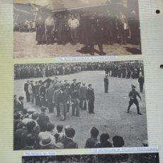 Militaria: 3 RECORTES POLÍTICO MILITARES. GUERRA CIVIL FRANQUISMO REPÚBLICA. 1938 LEGIÓN CONDOR BATALLA EBRO 22. Lote 244434620