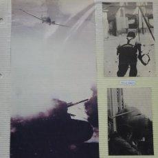 Militaria: 3 RECORTES POLÍTICO MILITARES. GUERRA CIVIL FRANQUISMO REPÚBLICA. MILICIANO AVIÓN NACIONALISTA 23. Lote 244434715