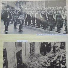 Militaria: 2 RECORTES POLÍTICO MILITARES. GUERRA CIVIL FRANQUISMO REPÚBLICA. CONDE DE MAGAZ, CRUZ ROJA. 25. Lote 244435195