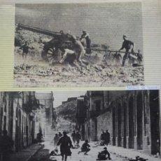 Militaria: 2 RECORTES POLÍTICO MILITARES. GUERRA CIVIL FRANQUISMO REPÚBLICA. BATALLA EN TERUEL. 27. Lote 244435350