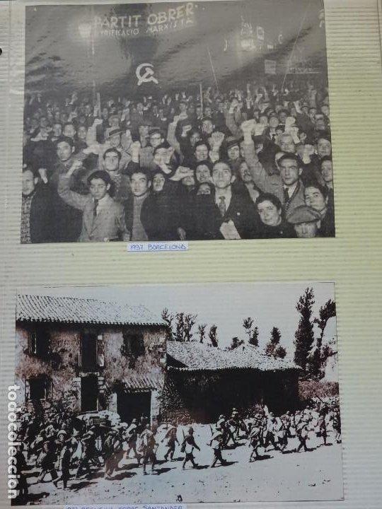 2 RECORTES POLÍTICO MILITARES. GUERRA CIVIL FRANQUISMO REPÚBLICA. 1937 BARCELONA PARTIDO MARXISTA 28 (Militar - Fotografía Militar - Guerra Civil Española)