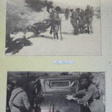 Militaria: 2 RECORTES POLÍTICO MILITARES. GUERRA CIVIL FRANQUISMO REPÚBLICA. BATALLA EN BRUNETE. 29. Lote 244435655