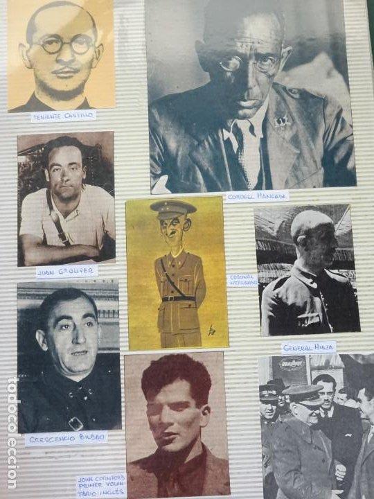 8 RECORTES POLÍTICO MILITARES. GUERRA CIVIL FRANQUISMO REPÚBLICA. CORONEL MIAJA MANGADA HERNANDEZ 30 (Militar - Fotografía Militar - Guerra Civil Española)