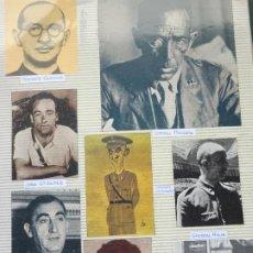 Militaria: 8 RECORTES POLÍTICO MILITARES. GUERRA CIVIL FRANQUISMO REPÚBLICA. CORONEL MIAJA MANGADA HERNANDEZ 30. Lote 244435800