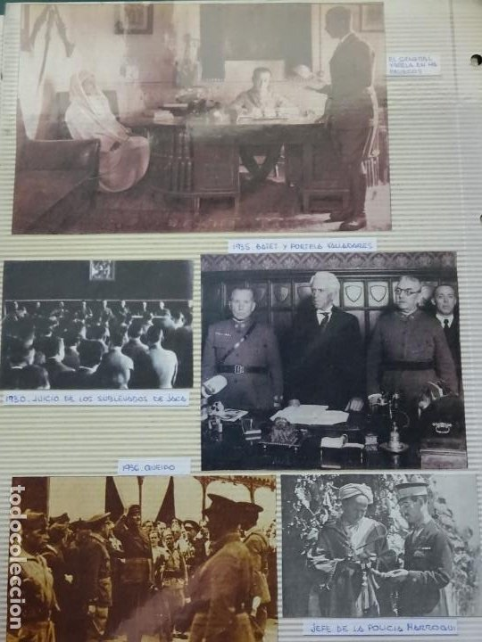 5 RECORTES POLÍTICO MILITARES. GUERRA CIVIL FRANQUISMO REPÚBLICA. JACA QUEIPO VALERA MARRUECOS 31 (Militar - Fotografía Militar - Guerra Civil Española)
