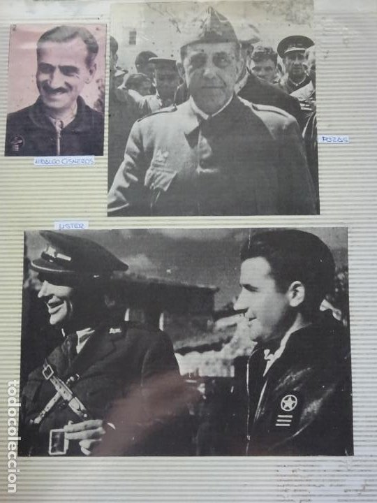 3 RECORTES POLÍTICO MILITARES. GUERRA CIVIL FRANQUISMO REPÚBLICA. CISNEROS LISTER POZAS 33 (Militar - Fotografía Militar - Guerra Civil Española)